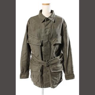 ドゥロワー(Drawer)のドゥロワー Drawer ジャケット  ベルト付き ミリタリー コットン 36(ブルゾン)