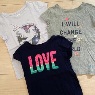 ギャップキッズ(GAP Kids)のGAP ギャップ Tシャツ 120 女の子 3枚セット(Tシャツ/カットソー)