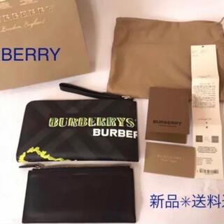 バーバリー(BURBERRY)のショッパー付 バーバリー グラフィティ ファスナー トラベル ウォレット 長財布(長財布)