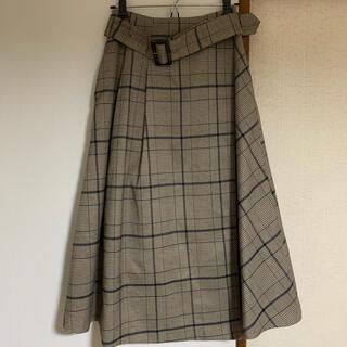 アンドクチュール(And Couture)のAnd couture チェックスカート(ひざ丈スカート)
