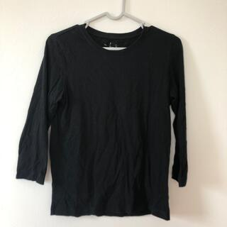 MUJI (無印良品) - 無印良品 7分袖 黒 T