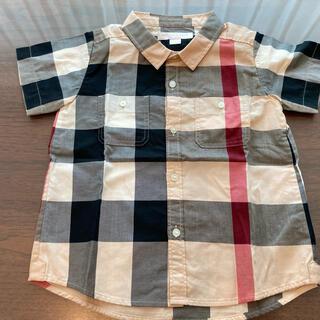 バーバリー(BURBERRY)のバーバリー ショートスリーブ チェックシャツ 2Y(ブラウス)