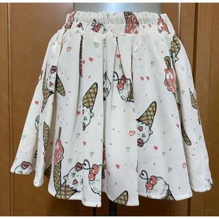 リズリサ(LIZ LISA)のアイスクリーム柄スカート LIZLISA リズリサ ゆめかわ(ミニスカート)