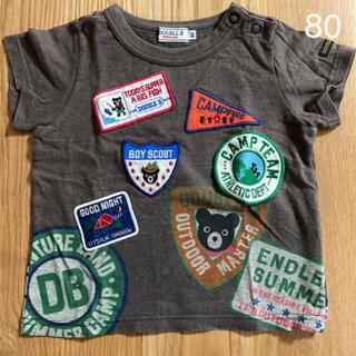 ダブルビー(DOUBLE.B)のDOUBLE.B ワッペンいっぱいTシャツ 80(Tシャツ)