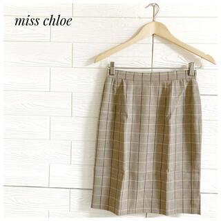クロエ(Chloe)の【早い者勝ち♡】miss chloe ミスクロエ 膝丈 スカート チェック柄(ひざ丈スカート)