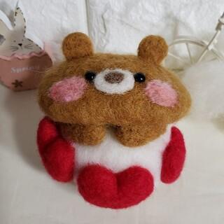 くまちゃん♡マリトッツォ♪ 羊毛フェルト ハンドメイド パン(ぬいぐるみ)