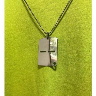 マルタンマルジェラ(Maison Martin Margiela)のdead stock イタリア軍 シルバー ネックレス デザインドッグタグ(ネックレス)