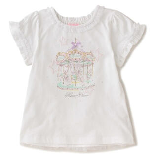 メゾピアノ(mezzo piano)のメゾピアノ☆メリーゴーランドTシャツ☆110(Tシャツ/カットソー)