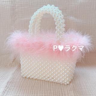 ベリーブレイン(Verybrain)の𓏬 import fake perl and feather bag(ハンドバッグ)