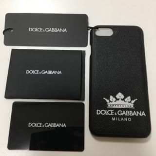 ドルチェアンドガッバーナ(DOLCE&GABBANA)の【新品未使用】DOLCE&GABBANA スマホケース iPhone7/8 黒(iPhoneケース)
