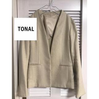イエナ(IENA)のTONAL トーナル フェイクリネン ノーカラージャケット(ノーカラージャケット)