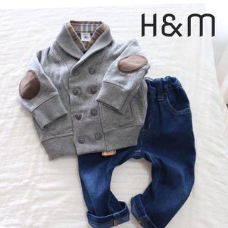 エイチアンドエム(H&M)のトレーナー グレー H&M(カーディガン/ボレロ)