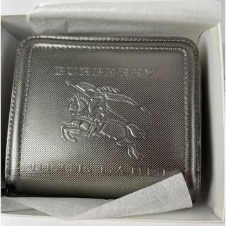 バーバリー(BURBERRY)のBURBERRY BLUE LABEL 財布 レザー シルバー(折り財布)