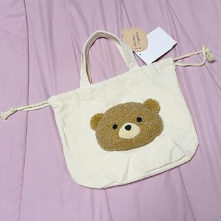 ダッフィー(ダッフィー)のillusie クマさんぬいぐるみ付き 巾着袋 とートート(トートバッグ)
