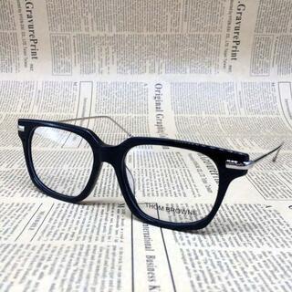 トムブラウン(THOM BROWNE)のトムブラウン TB-701 メガネ 眼鏡 ブラック シルバー サングラス(サングラス/メガネ)