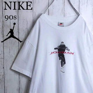 ナイキ(NIKE)の【美品】ナイキ ジョーダン 90s 銀タグ 両面プリント Tシャツ M 白(Tシャツ/カットソー(半袖/袖なし))