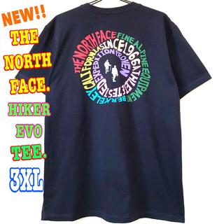 ザノースフェイス(THE NORTH FACE)のレアモデル ♪ ノースフェイス ハイカーEVO Tシャツ ネイビー 3XL 4L(Tシャツ/カットソー(半袖/袖なし))