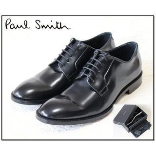 Paul Smith - 新品【ポールスミス】本革 プレーントゥドレスシューズ 黒9(27.5-28cm)