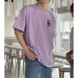 新品 Lカオヨリナカミ A NOTHING FACE HS TEE purple(Tシャツ/カットソー(半袖/袖なし))