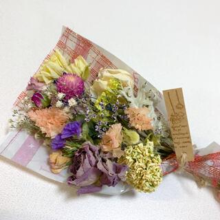 ドライフラワー お花たっぷりスワッグ 88 ブーケ 花束(ドライフラワー)