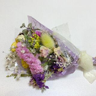 ドライフラワー スターチスと小花のスワッグ 89 ピンクパープル(ドライフラワー)