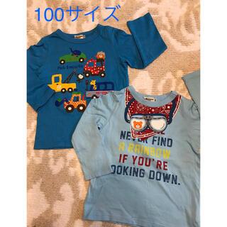 ミキハウス(mikihouse)のお値下げ*ミキハウス♡ホットビスケッツ 長袖 ロンT 2枚セット 100(Tシャツ/カットソー)