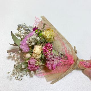 ドライフラワー ピンクスワッグ 91 ブーケ 花束 インテリア(ドライフラワー)