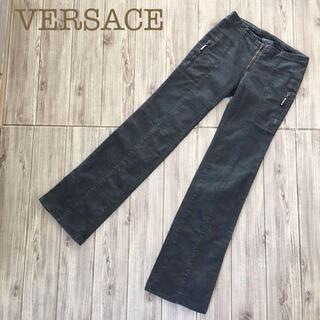 VERSACEカジュアルストレートワークパンツカーゴ黒ブラック24/38(ワークパンツ/カーゴパンツ)