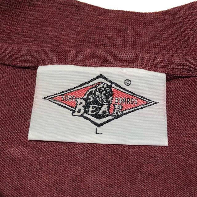 Bear USA(ベアー)の*3661 90s BEAR USA ベアー バックプリント  Tシャツ メンズのトップス(Tシャツ/カットソー(半袖/袖なし))の商品写真