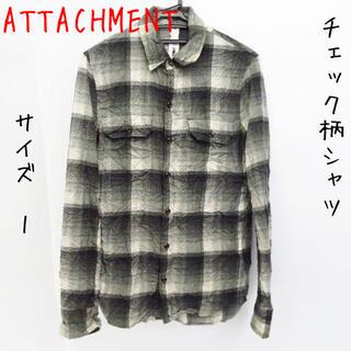 アタッチメント(ATTACHIMENT)のATTACHMENT/アタッチメント チェック柄 長袖シャツ/1(シャツ)