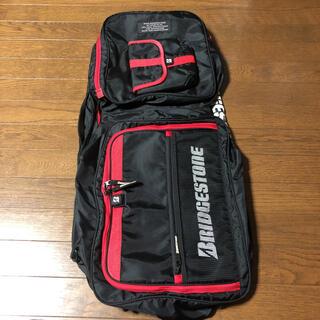 ブリヂストン(BRIDGESTONE)のブリヂストン ラケットバッグ 黒×赤 肩ベルトなし(バッグ)