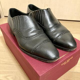 SANYO YAMACHO - 中古 rendo レンド サイドエラスティック 革靴 ブラックカーフ
