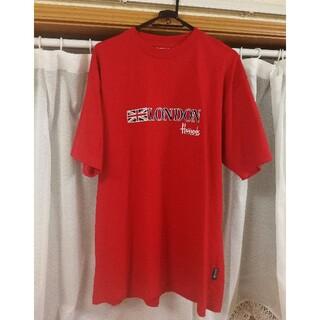 ハロッズ Harrods Tシャツ ヴィンテージ 赤 london 刺繍 ロゴ
