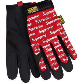 シュプリーム(Supreme)の SUPREME × Mechanix オリジナル グローブ 美品 赤 M (手袋)