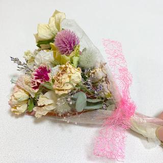 ドライフラワー バラのピンクスワッグ 97 ブーケ 花束 インテリア (ドライフラワー)