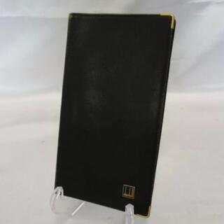 ダンヒル(Dunhill)のdunhill ダンヒル 長財布 二つ折り  レザー ブラック ゴールド(長財布)