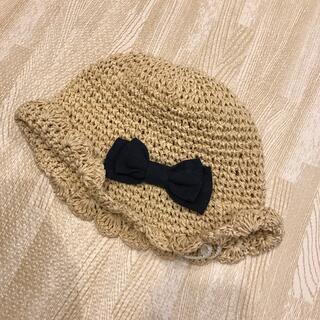 プティマイン(petit main)のpetit main 💗麦わら帽子 46㎝(帽子)