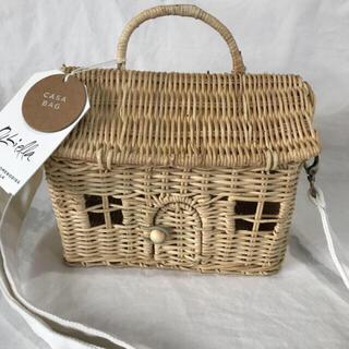 新品 オリエラ カゴバック casa bag ドールハウス型(その他)
