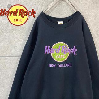 ハードロックカフェ 美品 USA ニューオーリンズ 刺繍 ロゴ スウェット(スウェット)