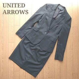 UNITED ARROWSセットアップ スカートスーツ上下黒ブラック入学入園卒業(スーツ)