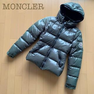 モンクレール(MONCLER)のMONCLERバディアダウンコート ダウンジャケット緑カーキ00秋冬フード(ダウンジャケット)