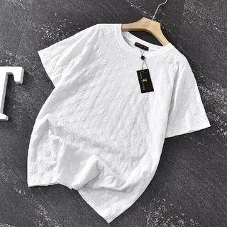 ルイヴィトン(LOUIS VUITTON)の限定フルプリントエンボスデザインロゴ半袖(Tシャツ(半袖/袖なし))