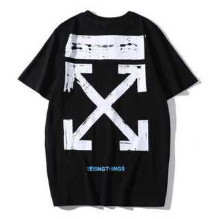 シンプル メンズ Tシャツ 黒 ブラック オフホワイト レディース (Tシャツ/カットソー(半袖/袖なし))