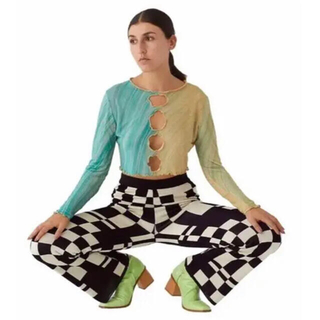 Psychedelic Checker pants チェック柄パンツ(カジュアルパンツ)