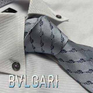 ブルガリ ネクタイ セッテピエゲ 光沢 パターン柄