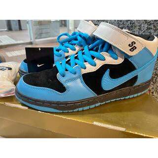 ナイキ(NIKE)の極美品 2008 NIKE DUNK MID PRO SB AQUA BLUE(スニーカー)