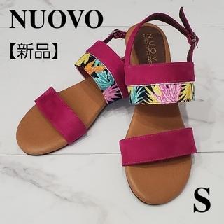 Nuovo - 【新品】ヌォーボ サンダル ピンク S 22.5 23.0 レディース 靴