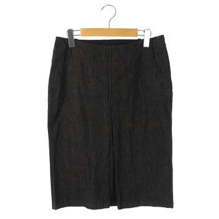 ジルサンダー(Jil Sander)のジルサンダー JIL SANDER スカート ロング タイト デニム 28 黒(ロングスカート)