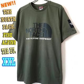 ザノースフェイス(THE NORTH FACE)のちょい訳あり モスグリーン♪ノースフェイス ファイン アルパイン Tシャツ(Tシャツ/カットソー(半袖/袖なし))