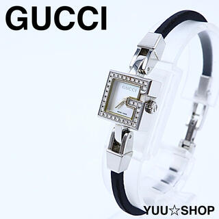 グッチ(Gucci)の電池新品【フルダイヤ ベゼル】GUCCI 102 ブレス ミニG 腕時計 箱付(腕時計)